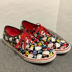 Vans Black Red Hello Kitty Lace Up Sneakers 10.5 9